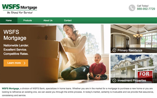 WSFS Mortgage website screenshot