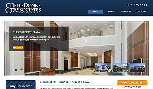 Delle Donne and Associates website designed and developed