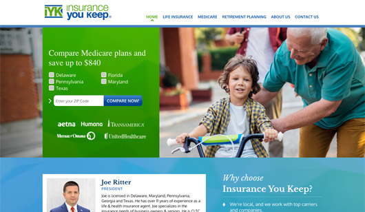 Insurance You Keep LLC - Medicare plans, life insurance and retirement planning specialists. Website designed and developed by Digital Eye LLC